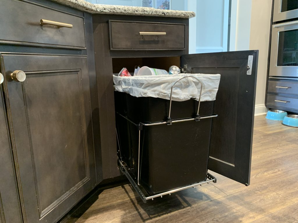 how to install a rev-a-shelf pull out cabinet trash can