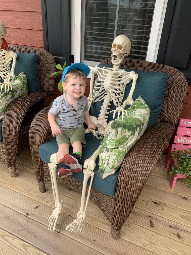 Front porch skeletons