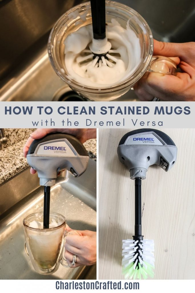 how to clean stained mugs with the dremel versa