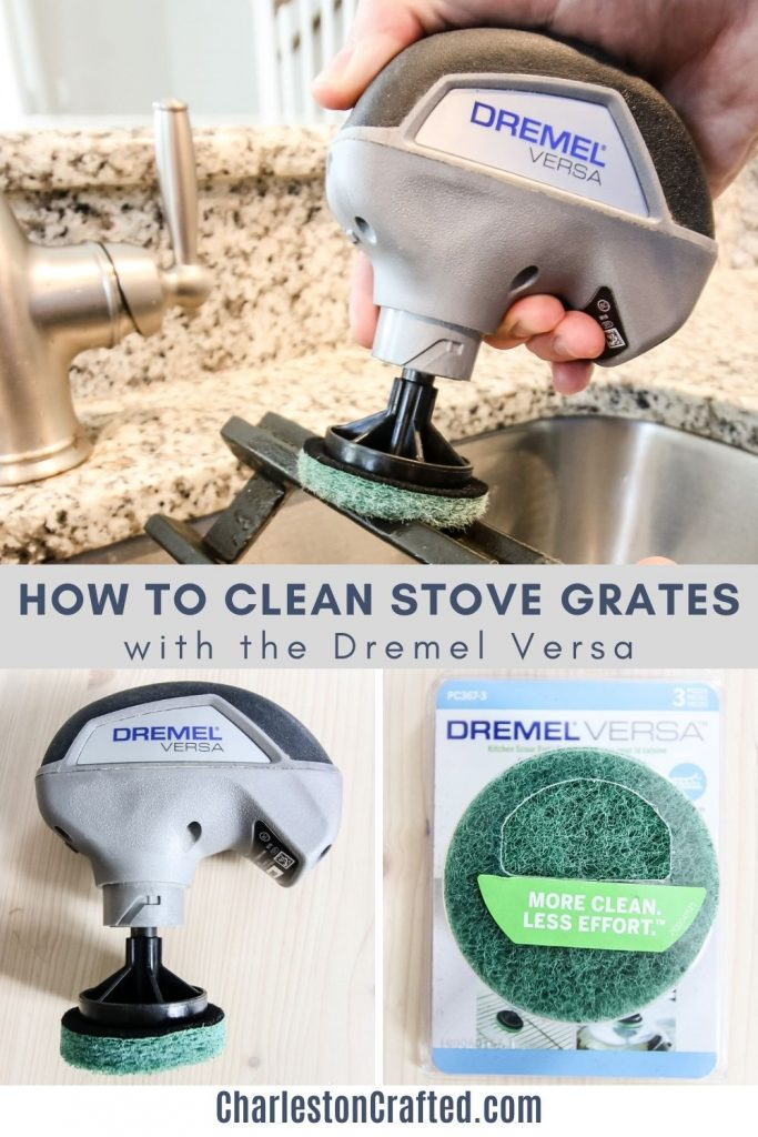 how to clean stove grates with the dremel versa