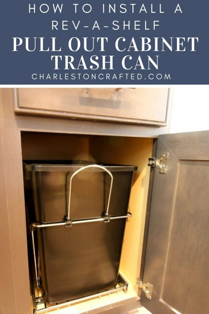 how to install a rev a shelf pull out cabinet trash can
