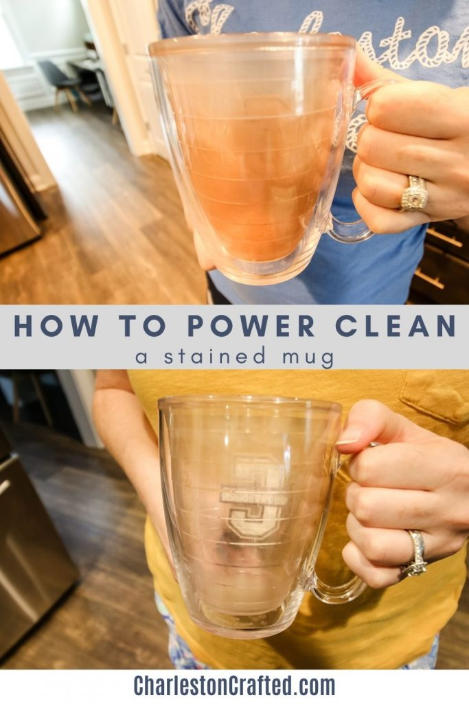 how to power clean a stained mug