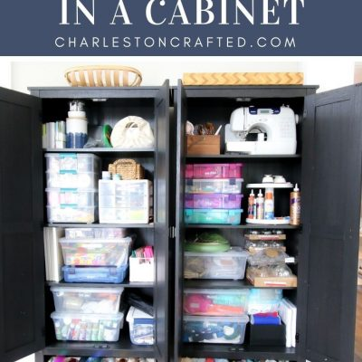 Our New Craft Supply Cabinets