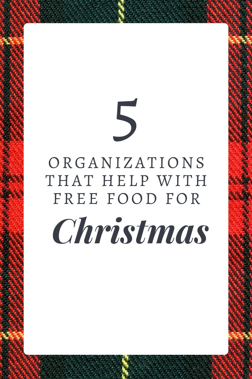 5 organizations that help with free food for christmas