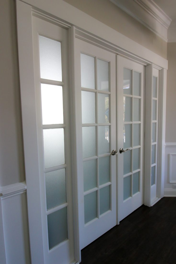 how to frost glass french doors