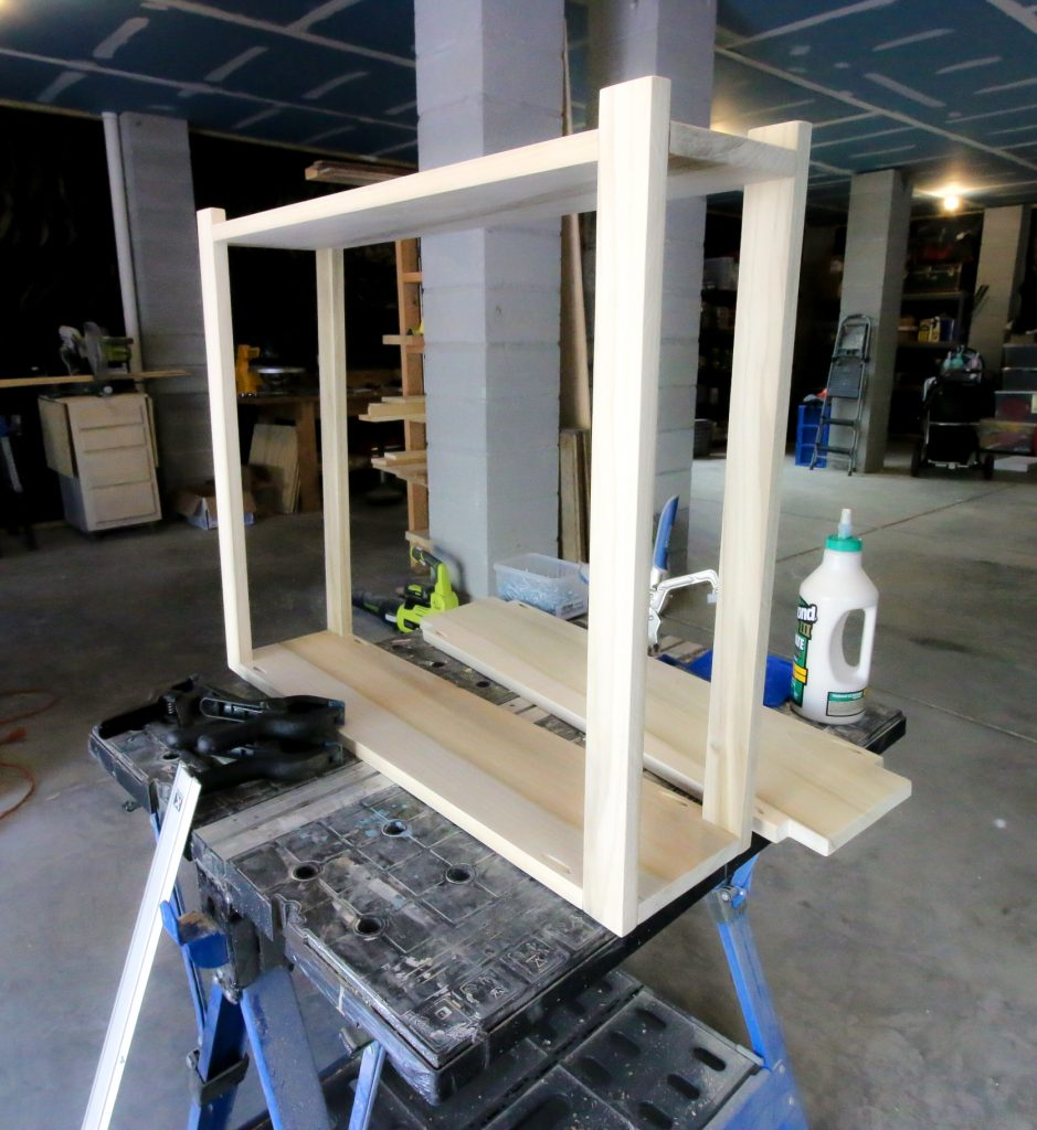 Assembling console table
