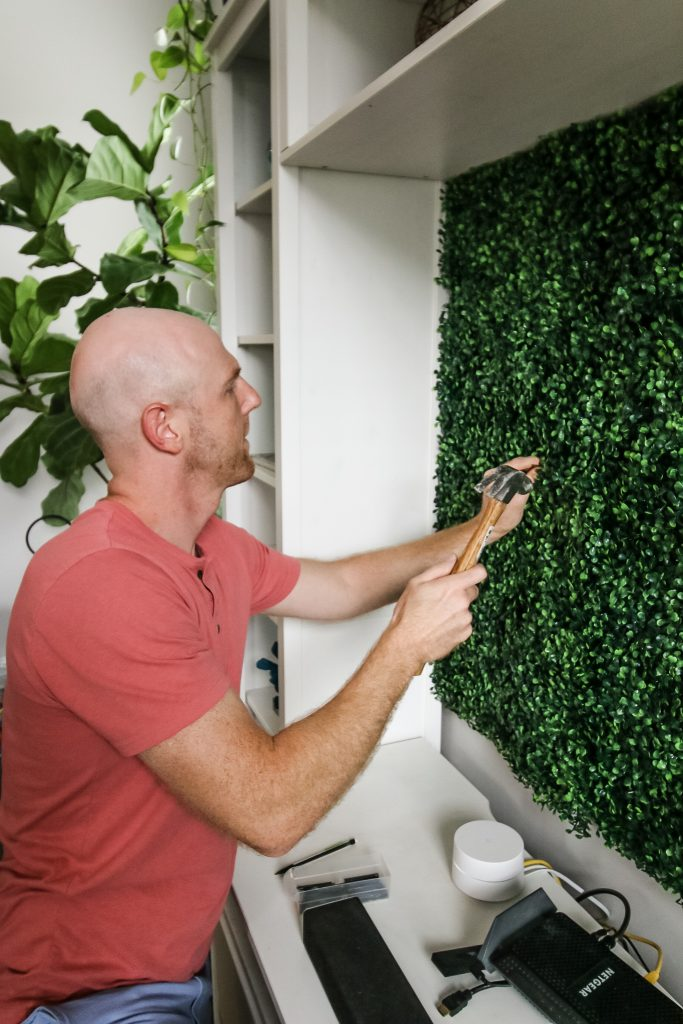 how to hang boxwood panels on the wall with nailsa