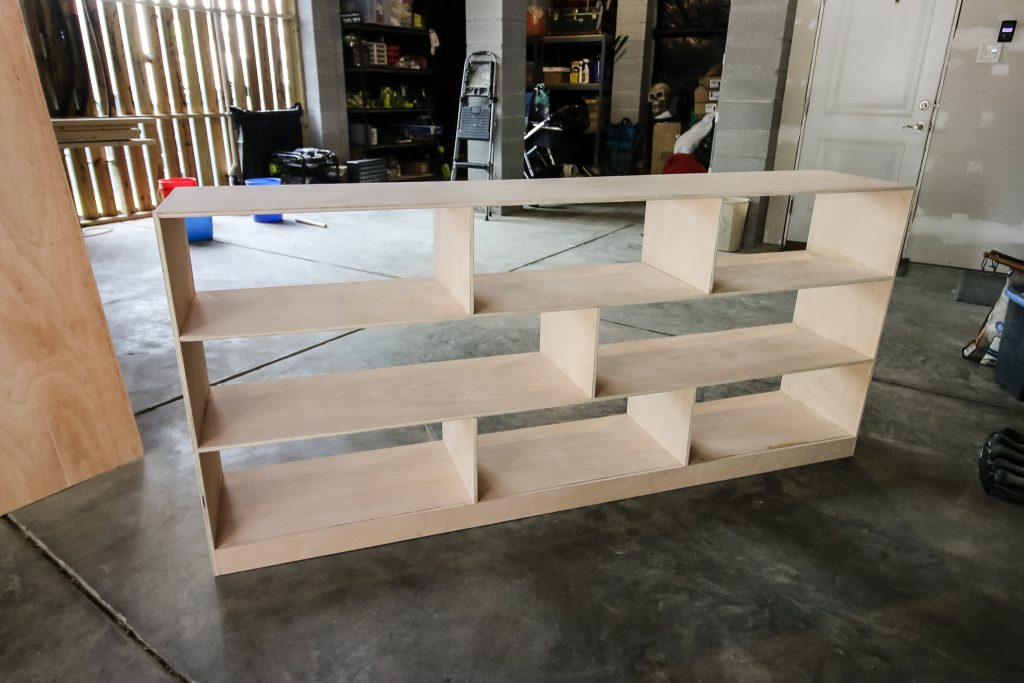 Building Montessori toy shelf