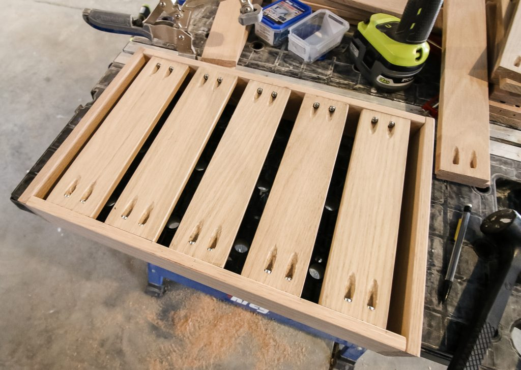 Constructing wooden trays