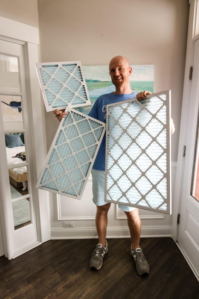 Three air filter sizes