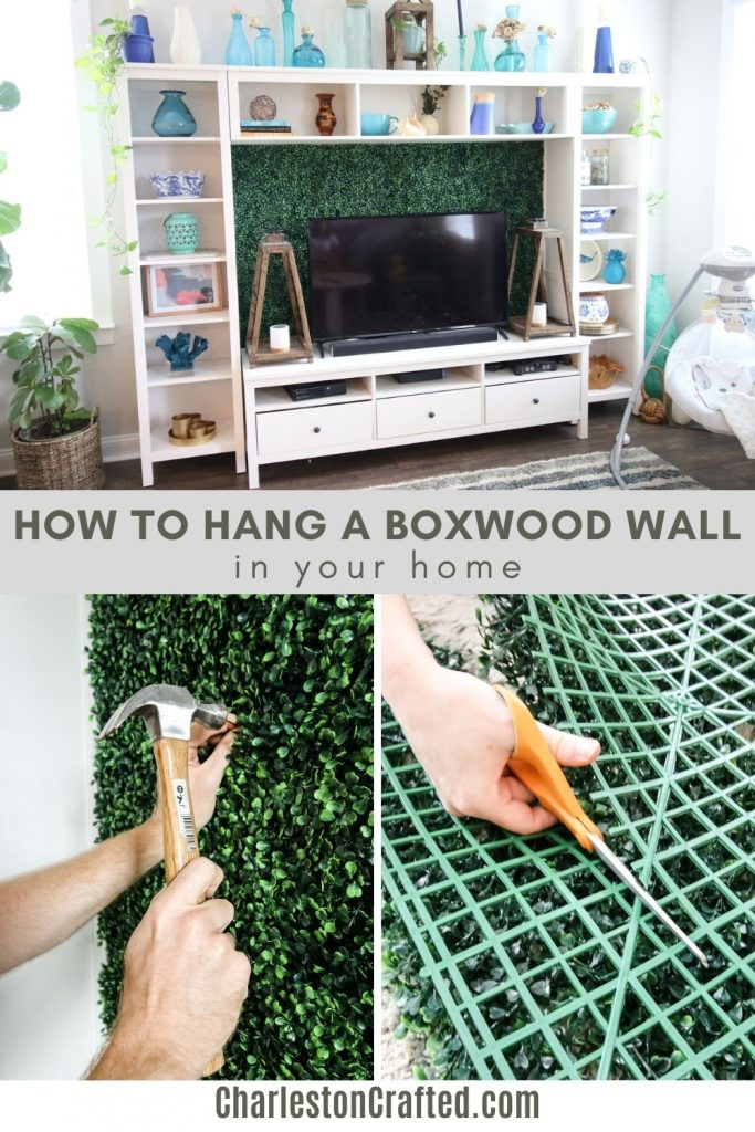 how to hang a boxwood wall in your home