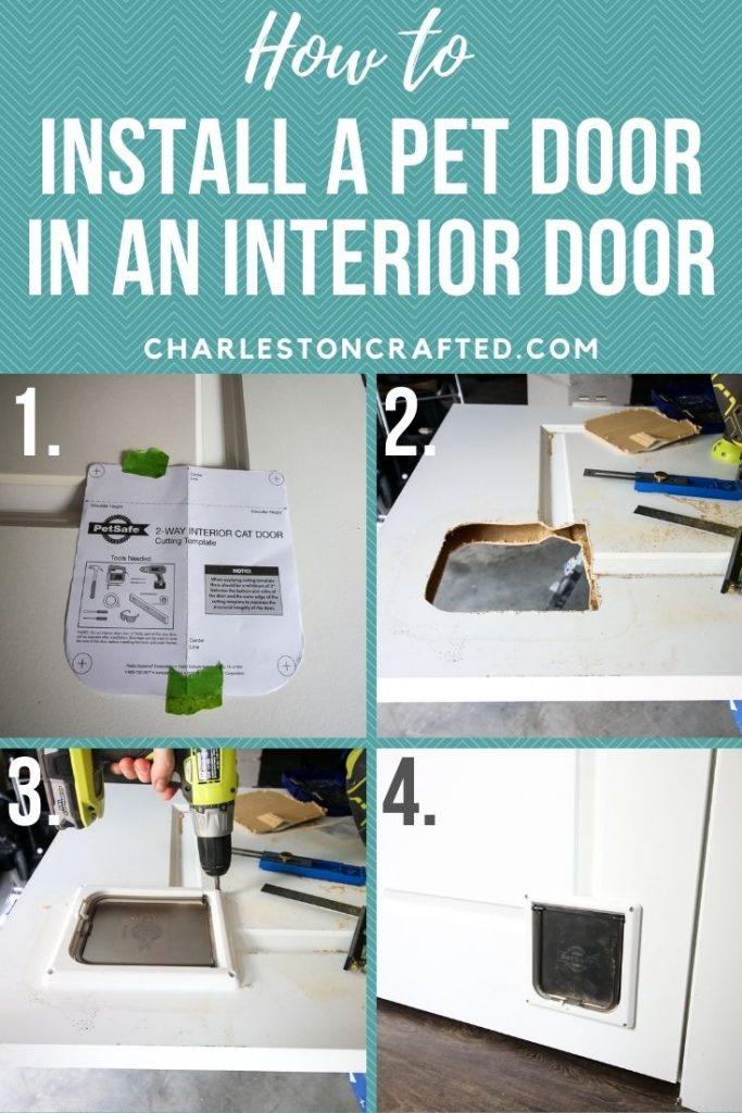 how to install a pet door in an interior door