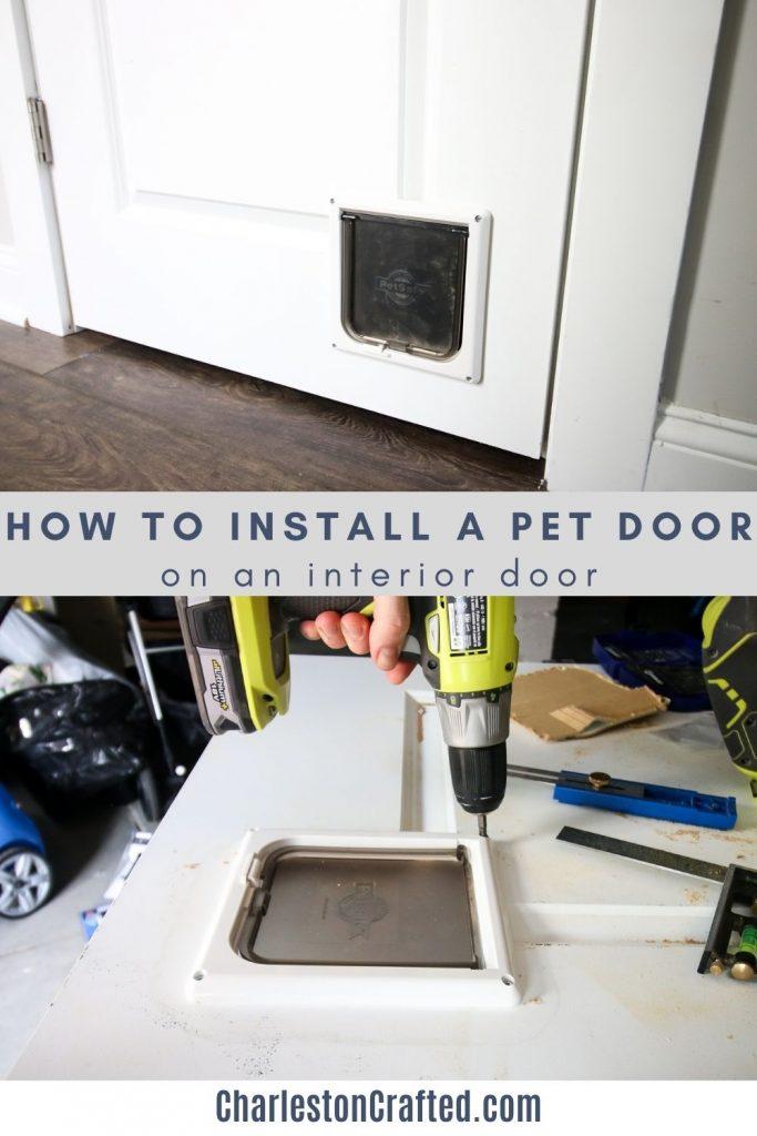 how to install a pet door on an interior door