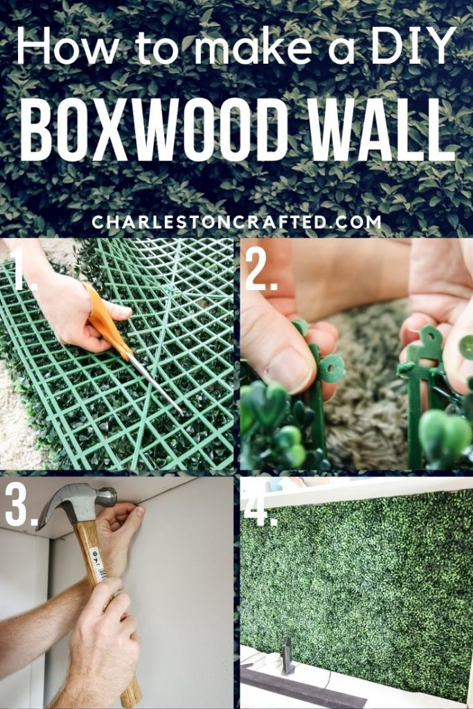 how to make a diy boxwood wall