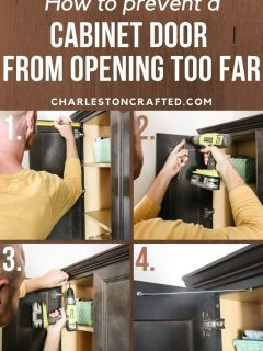how to prevent a cabinet door from opening too far