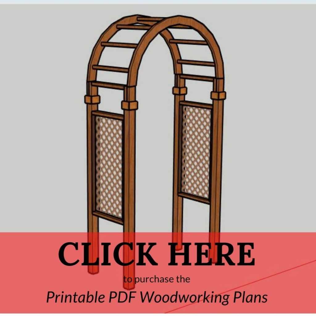 CLICK HERE to purchase the Printable PDF Woodworking Plans Arbor Arch