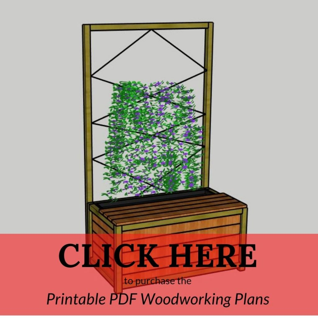 CLICK HERE to purchase the Printable PDF Woodworking Plans Planter Bench