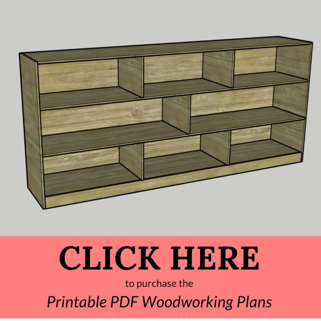 CLICK HERE to purchase the Printable PDF Woodworking Plans Toy Shelf