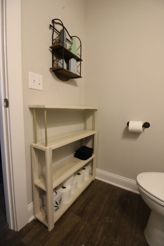 Placement of console table in half bath