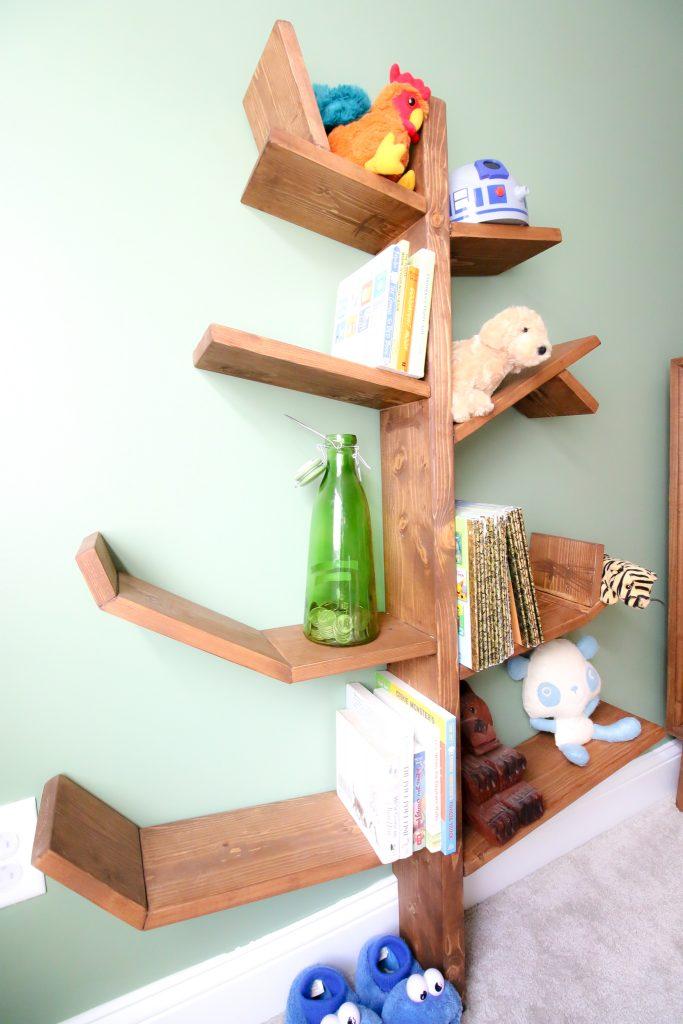 Close up of tree shelf