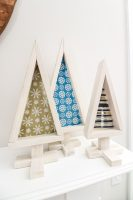 DIY wooden tabletop Christmas trees