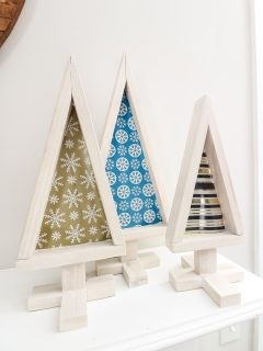 DIY Tabletop wooden Christmas trees