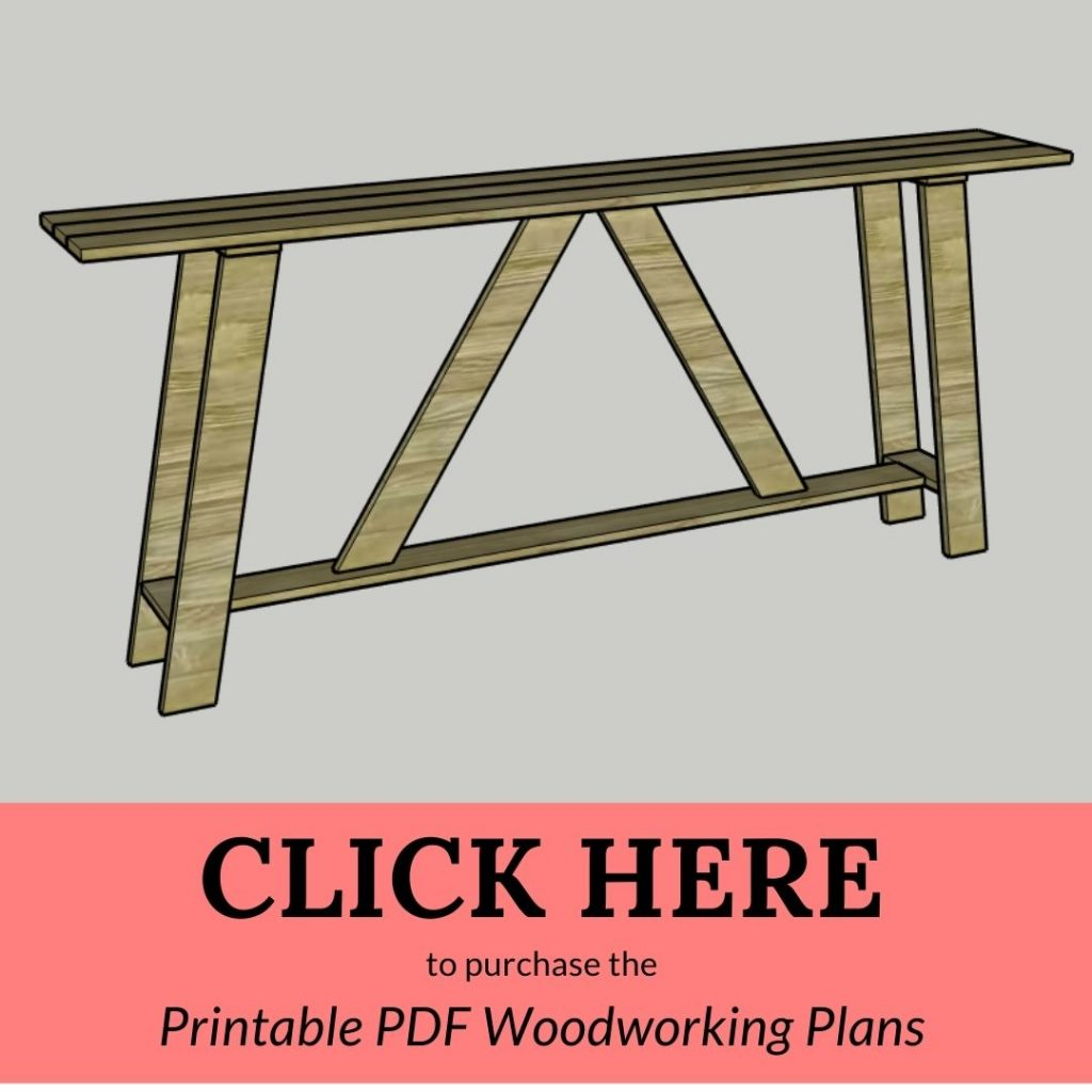 CLICK HERE to purchase the Printable PDF Woodworking Plans Console Table