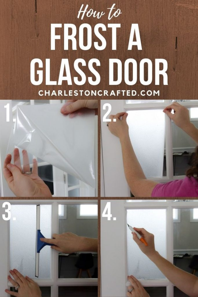 how to frost a glass door