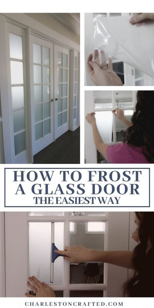 how to frost a glass door the easiest way