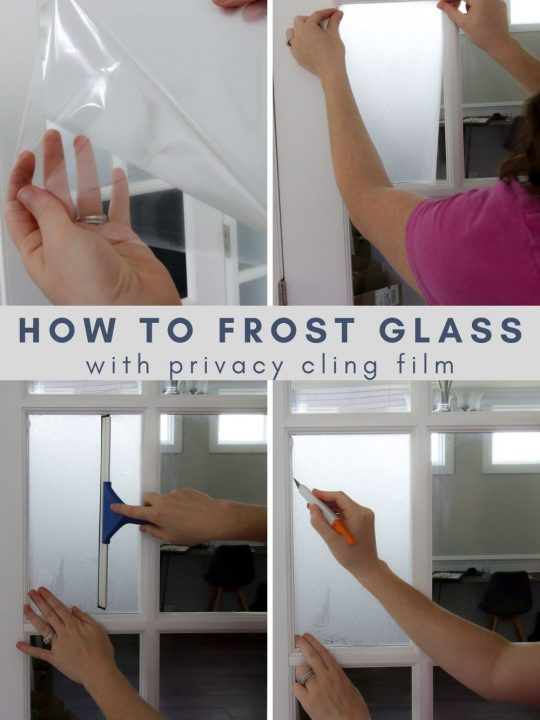 how to frost glass with privacy cling film