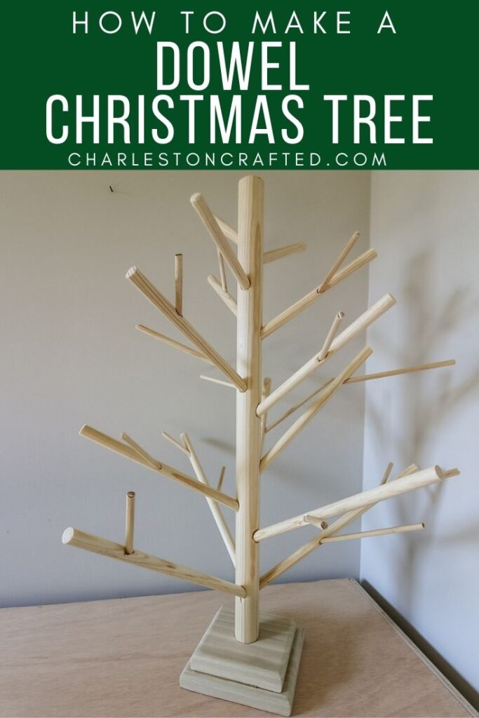 how to make a dowel christmas tree