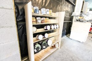 DIY garage paint storage
