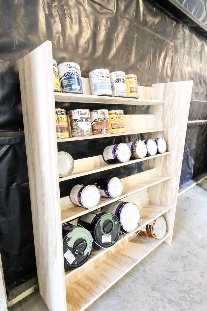 DIY Paint Storage Shelf - Charleston Crafted