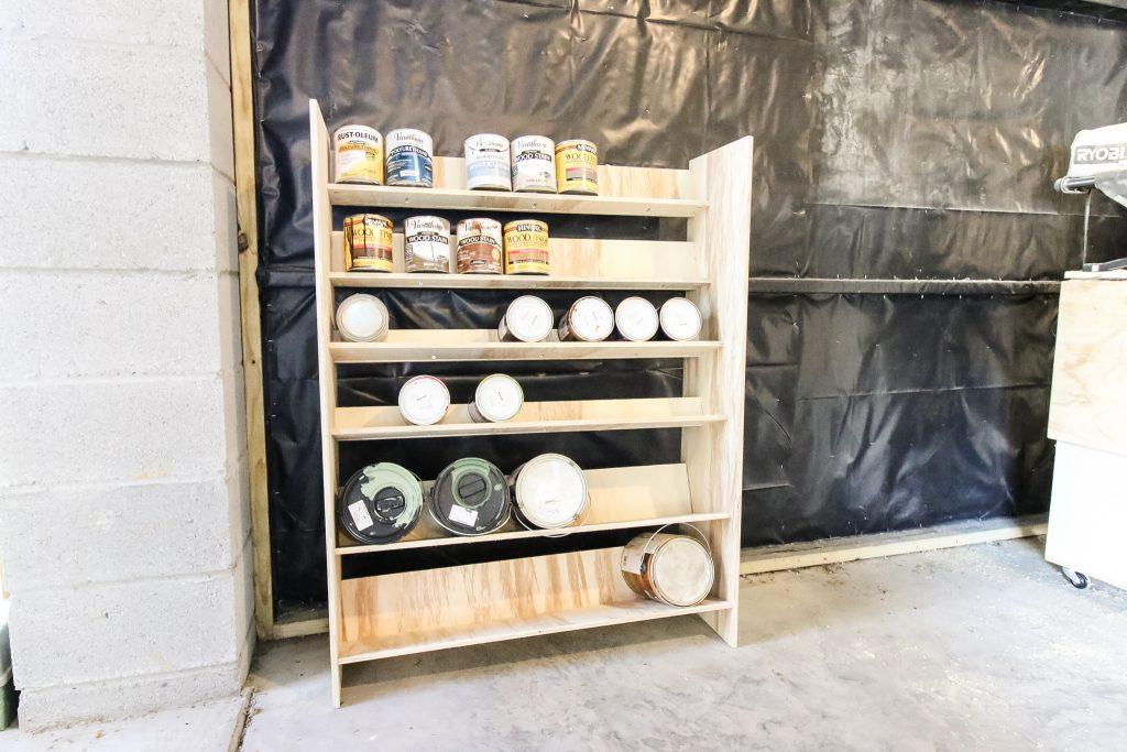 DIY Garage Paint Storage - Charleston Crafted