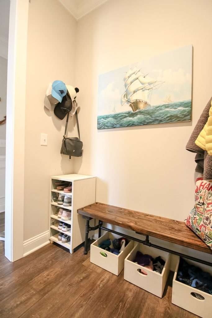 After photo of mudroom