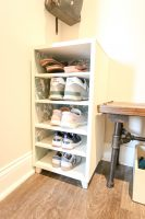 How to build a DIY shoe shelf- FREE PDF plans