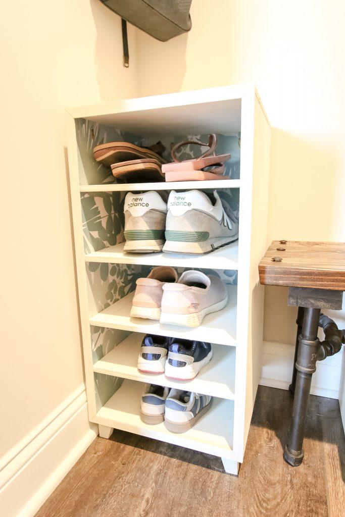 DIY Shoe Shelf - Charleston Crafted