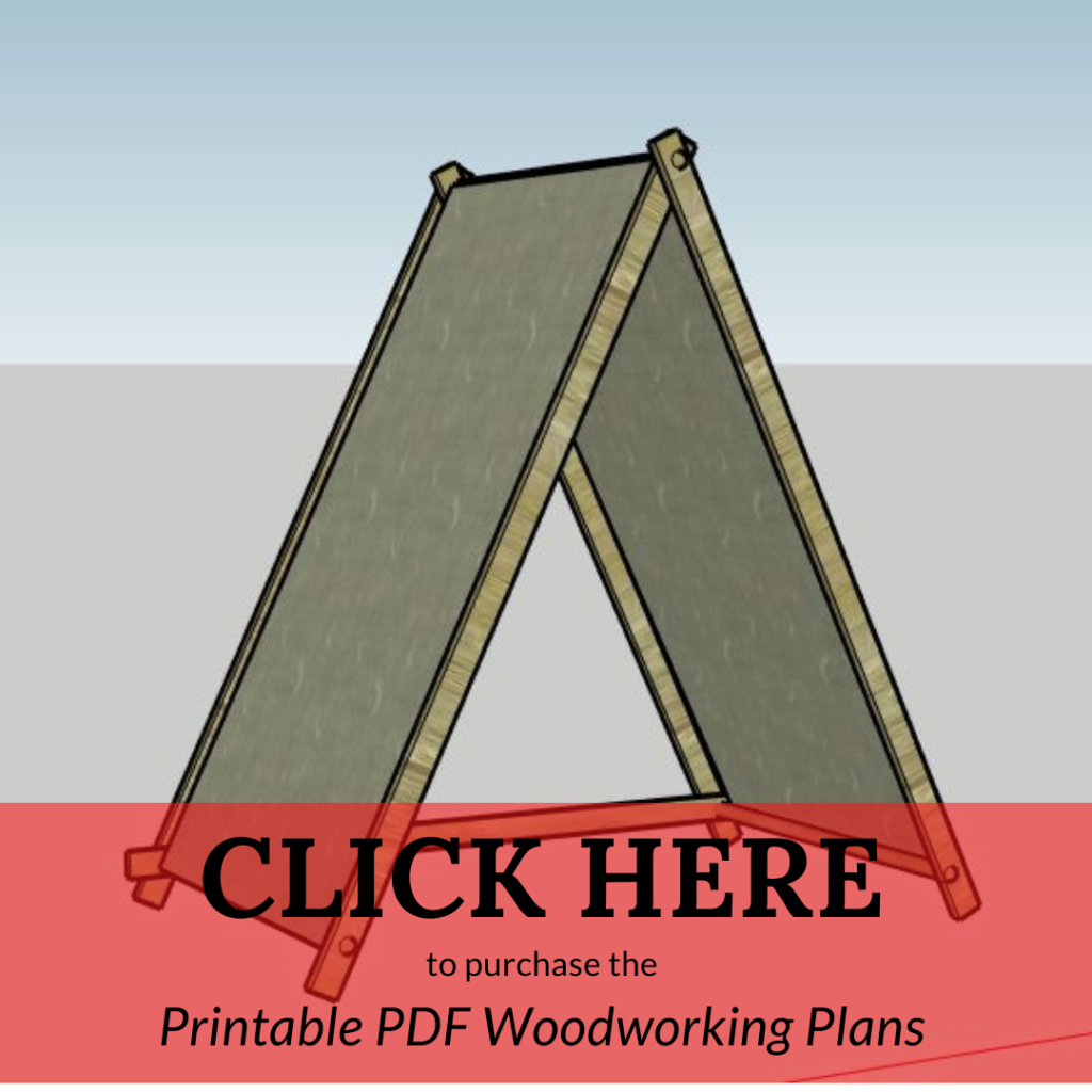 Click to get woodworking plans for DIY play tent