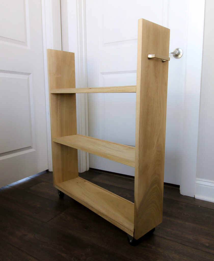 After picture of slim rolling laundry cart