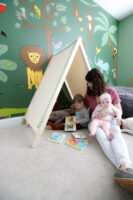 Easy DIY play tent – with PDF woodworking plans!