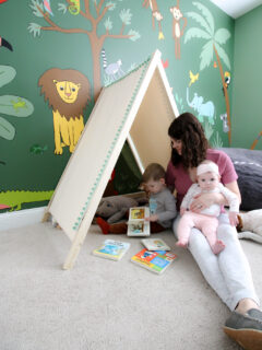 how to make a diy play tent for kids