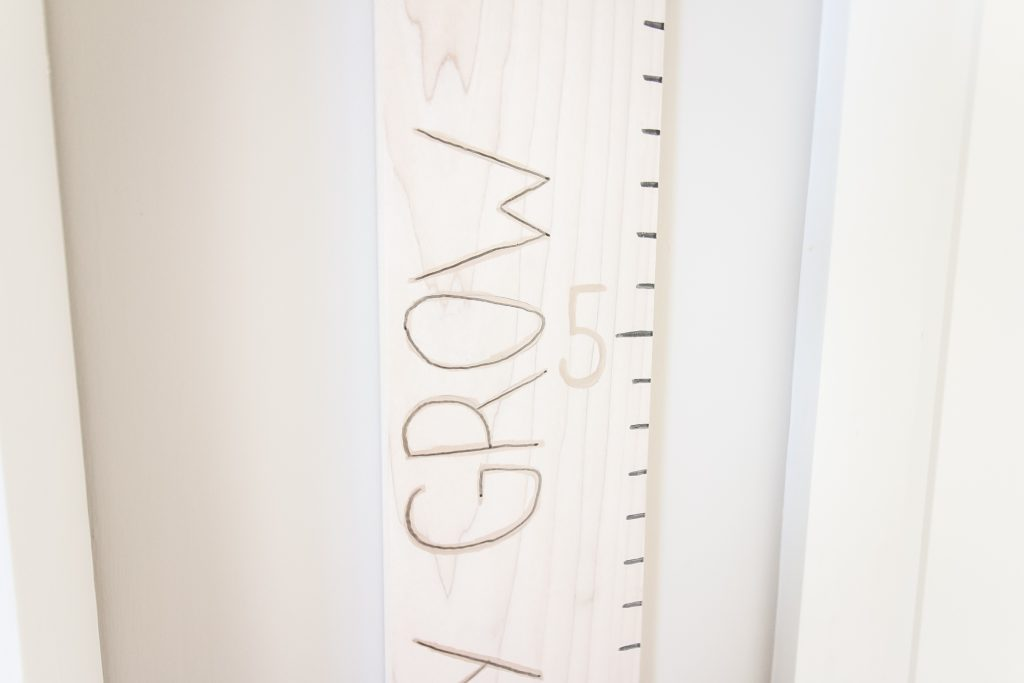 Text ideas for a wooden growth chart