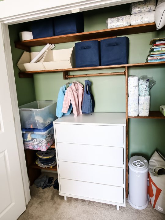How to make a DIY custom toddler closet - Charleston Crafted