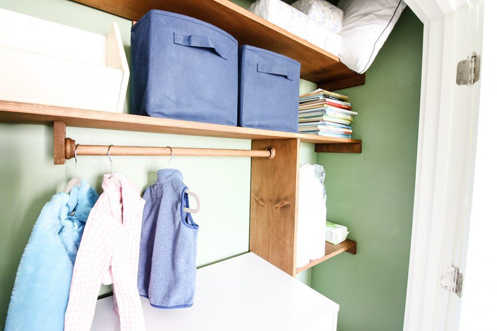 Close up of interior of closet