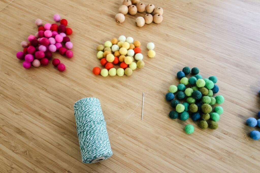 felt ball pom poms