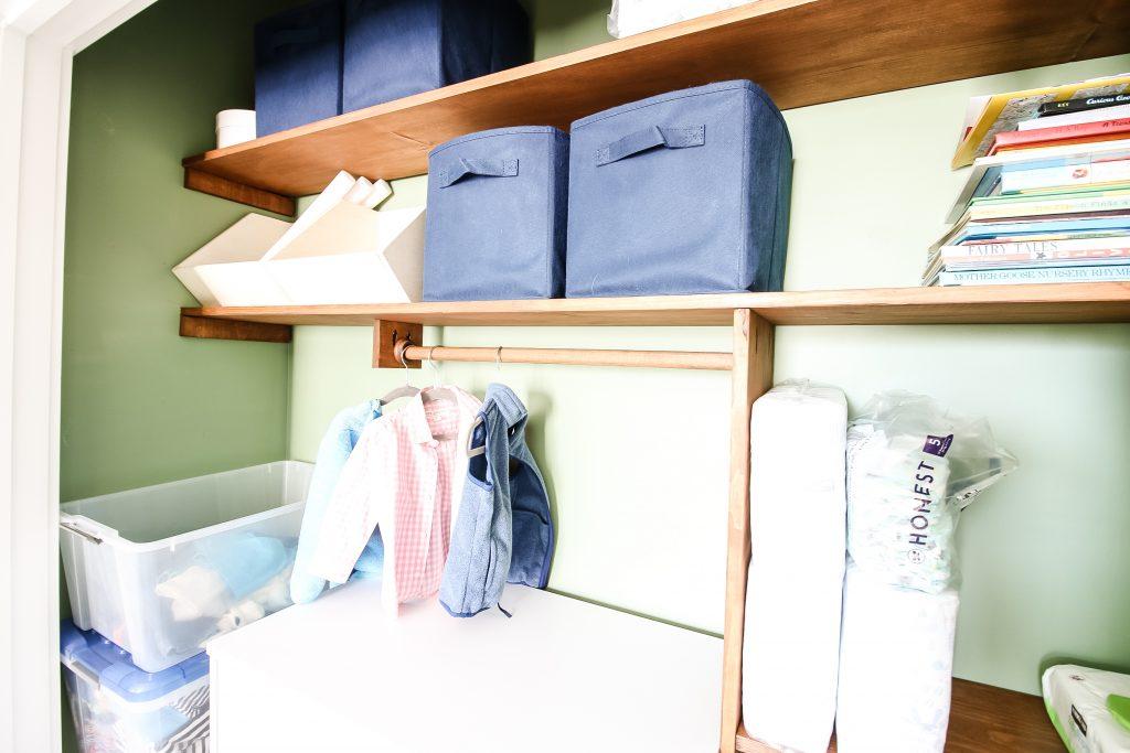 Elements of a custom toddler closet