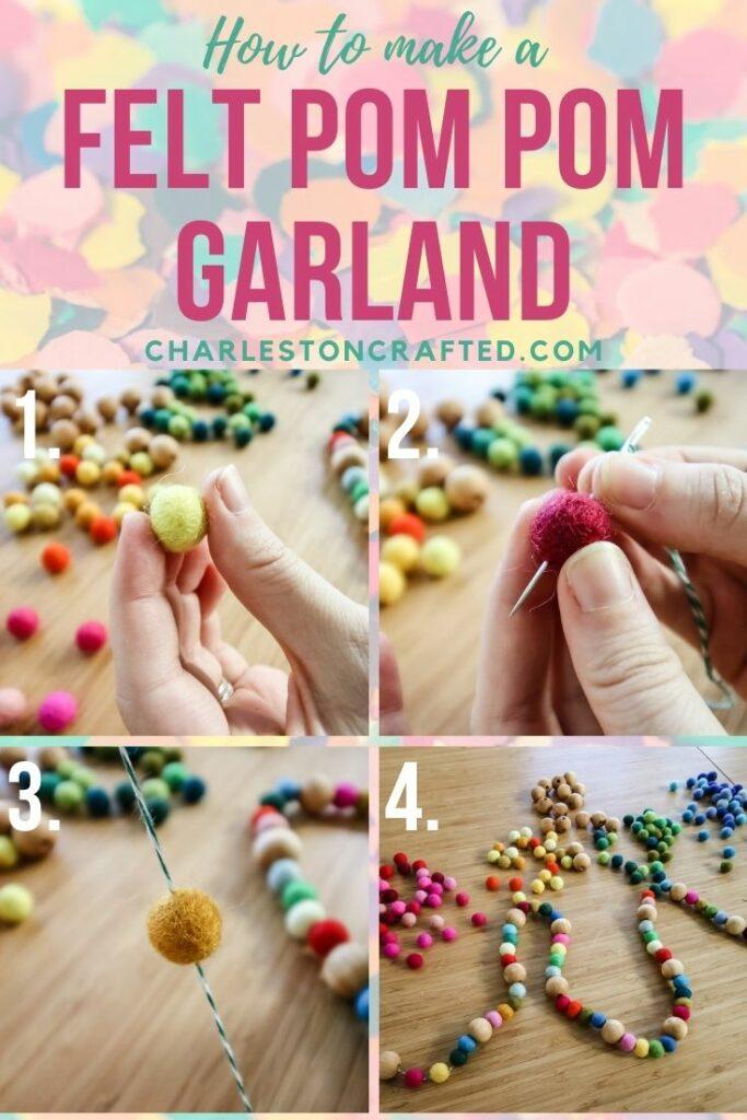 how to make a felt ball garland