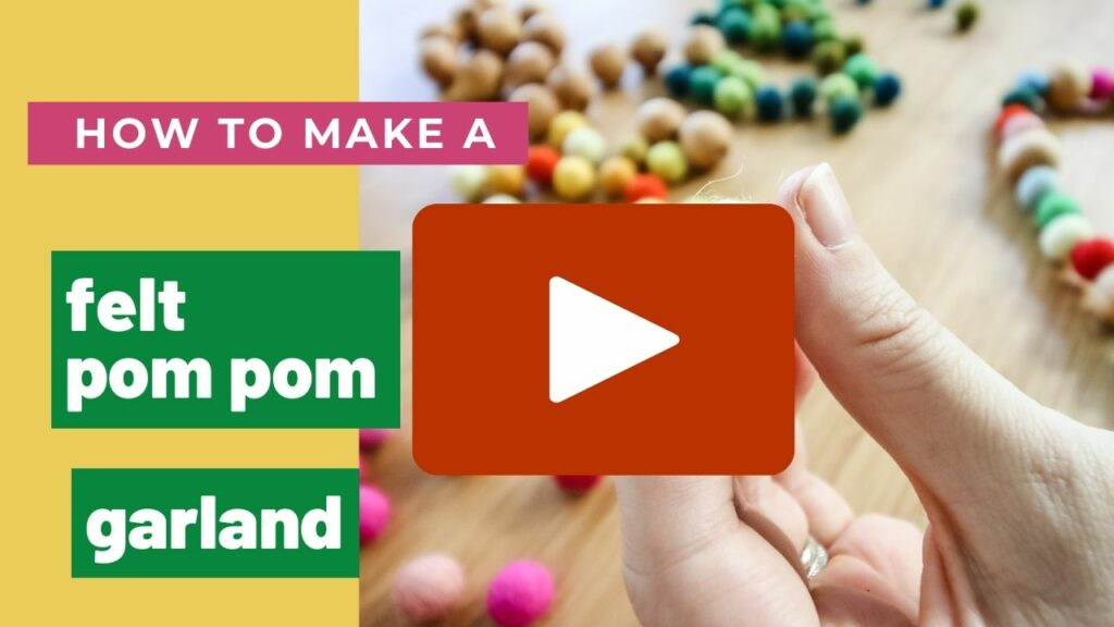 how to make a felt pom pom ball garland clicker