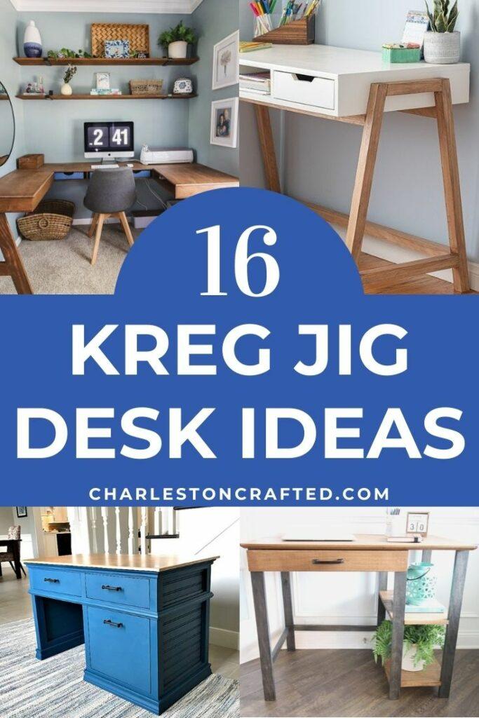 16 kreg jig desk ideas