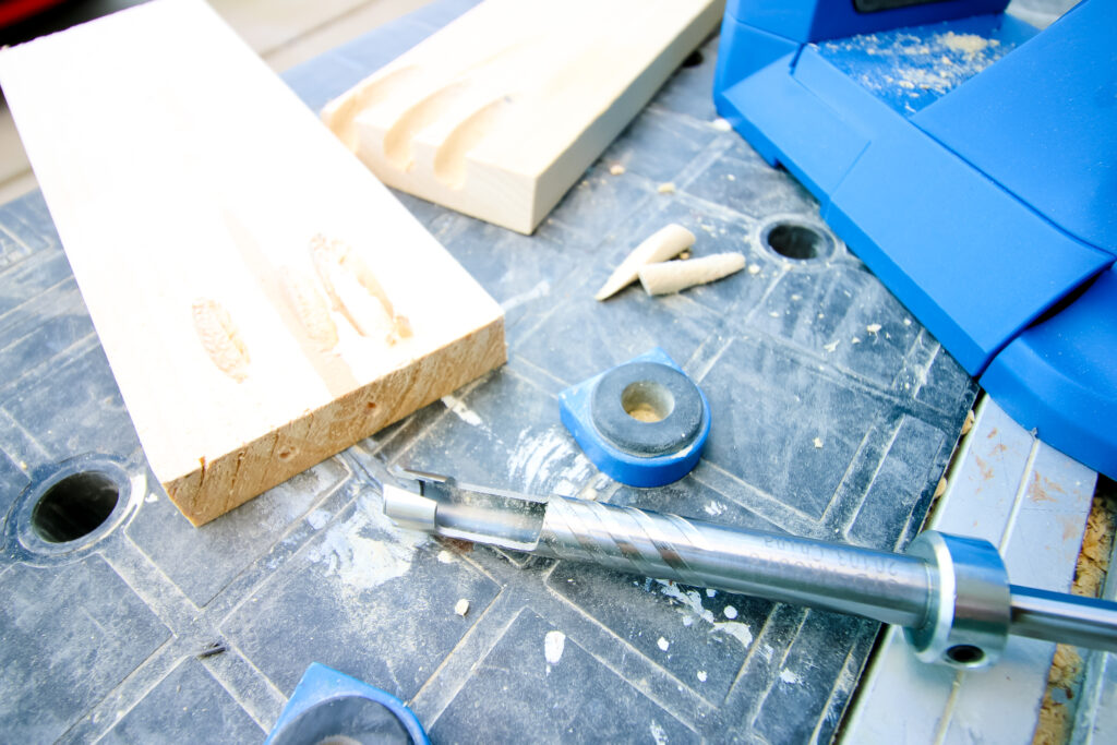 Plug Cutter pieces and drill bit